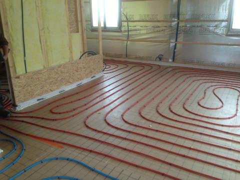 installation de plancher chauffant aurec sur loire technic chauffage plomberie chauffage. Black Bedroom Furniture Sets. Home Design Ideas
